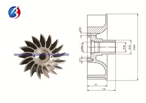 Pump parts _ pump impeller _vacuum pump impeller 01